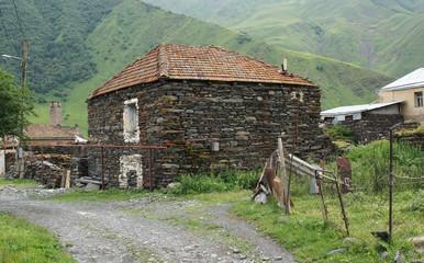 Dorf, Kaukasus, Georgien