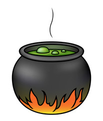 Witches' Brew in a Cauldron