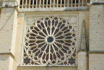 La rosace de la cathédrale de Poitiers