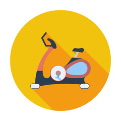 Icon exercise bicycle.