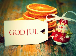 God Jul - Postkarte -retro