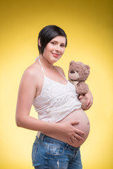 Pregnant woman expecting her baby