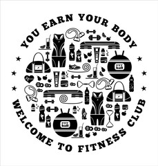 Fitness Icons background