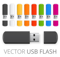 Colored USB flash