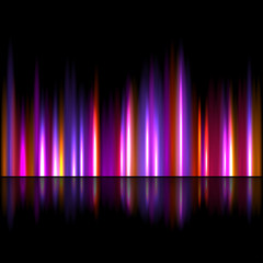 Bright sound wave background
