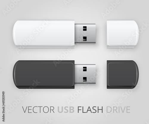 An isolated USB pen drive - 69283949