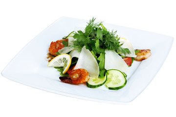salad with shrimp and parmesan