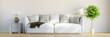 Panorama von Zimmer mit Sofa