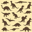 vector set silhouettes of dinosaur,animal illustration - 69284502
