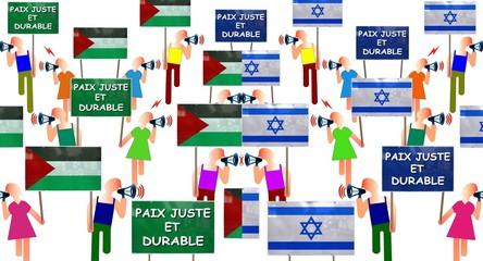 """Manifs """"Paix juste et durable"""""""
