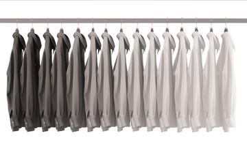 Viele Hemden auf Kleiderstange
