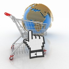 3d shopping online in Internet