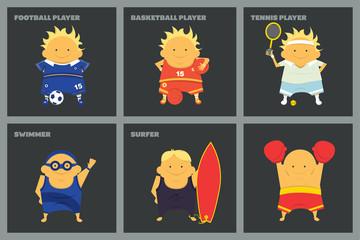 Sportsmen characters