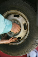 tire tyre change