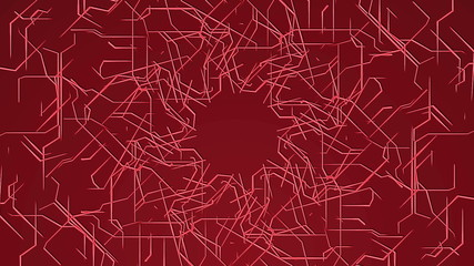 Red Looping Technical Abstract Array
