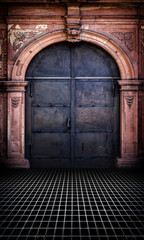 Iron Door Urban Interior Stage