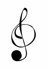 doodle clef music symbols