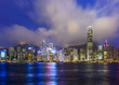 Hong Kong, China City Skyline on Victoria Harbor