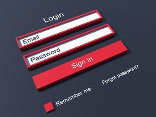 Member login form