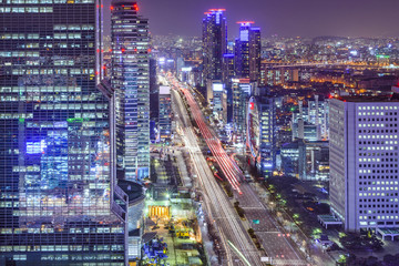 Seoul, South Korea Cityscape at Night
