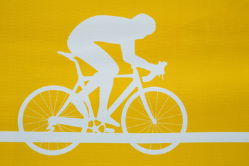 Cyclist on the bicycle
