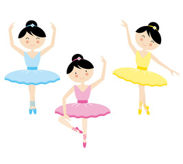 Vector illustration of a girl dancing ballet