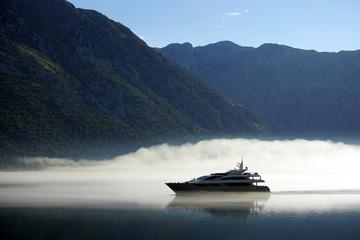 Boat and smoke