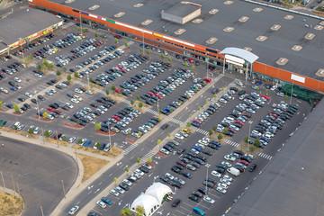 Parkplatz Einkaufszentrum