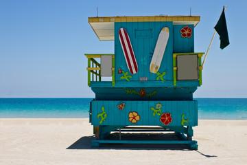 South Beach lifeguard hut in Miami, Florida