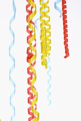 colorful ribbons on white