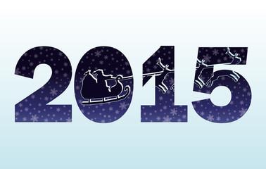 2015 Happy New Year invitation card, vector illustration