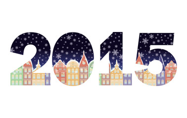 2015 Happy New Year banner, vector illustration