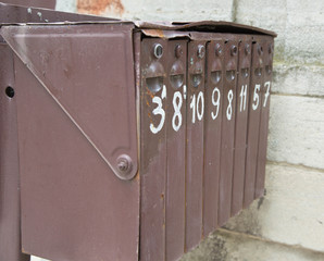Soviet-type post box