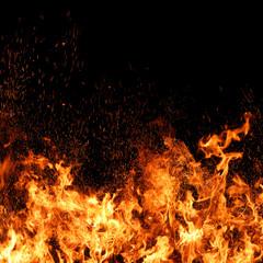 Feuer mit Funkenflug