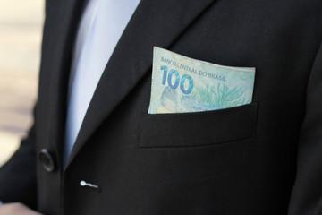money on the pocket