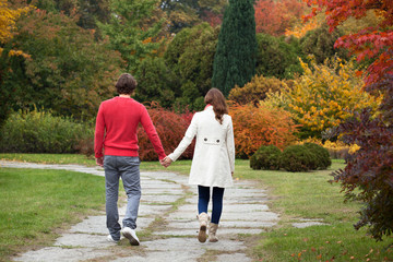 Couple on a walk in park