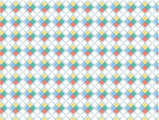 Retro X cross squares pattern