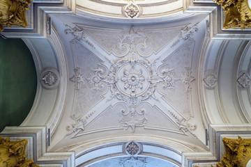 ornate white decorative plaster