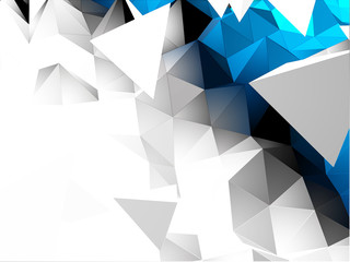 Abstract 3D Triangular Vector Background