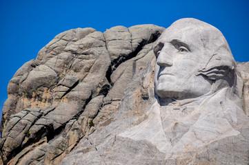 George Washington on Mount Rushmore National Monument, South Dak