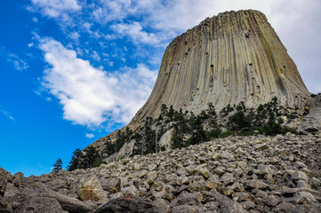 Famous Devil's Tower, Wyoming, USA