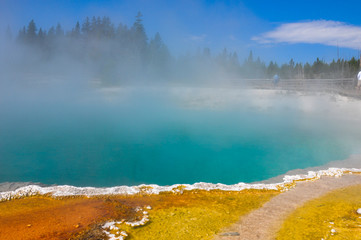 One of the many scenic landscapes of  Yellowstone National Park,