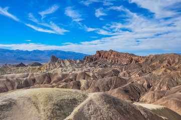 Gold Canyons of Death Valley National Park, California, USA