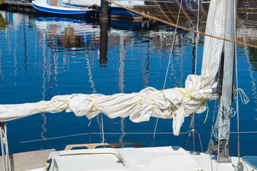 rolled sail