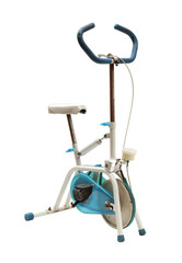 Exercise bike (with clipping path) isolated on white background