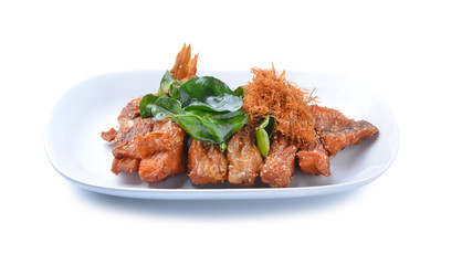Fried fish with herbs.