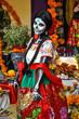 Woman disguised for Dia de los Muertos, Puebla, Mexico - 69293719
