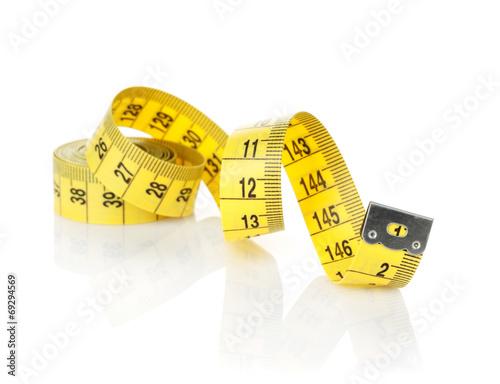 Leinwanddruck Bild Yellow measure tape