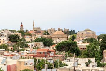 Panorama der Altstadt von Rhodos Stadt