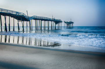 Abandoned North Carolina Fishing Pier Outerbanks OBX Cape Hatter